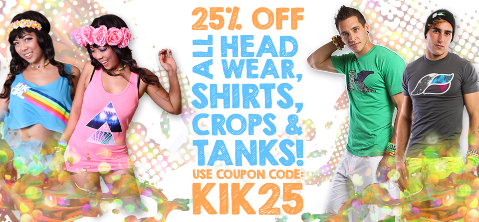 Kikwear 25% off sale!