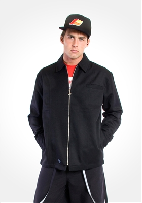 Black Microsuede DJ Jacket