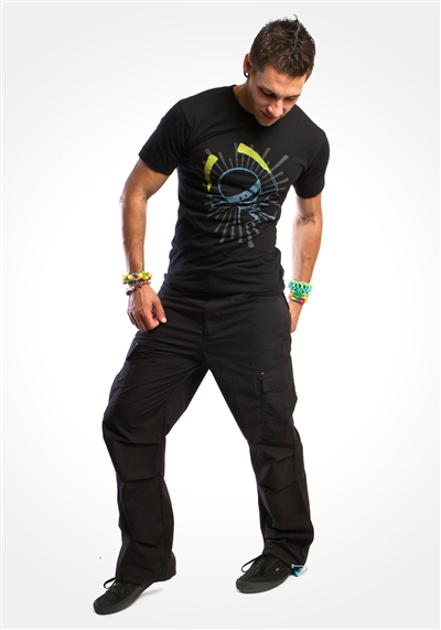 "Black 20"" Glowstick Ninja Cargo Pants"