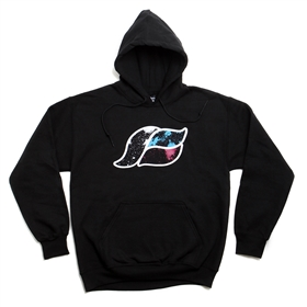 Glow in the Dark Space Wave K Pullover  Hoodie