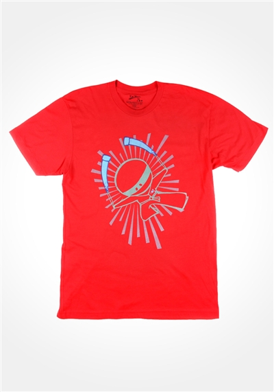 Red Glowstick Ninja T-Shirt