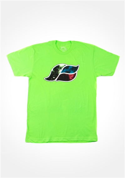 Neon Green Space Wave T-shirt
