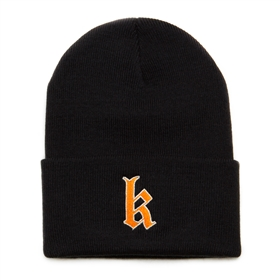Old English K  Folded Beanie