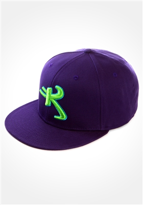 Purple colored Astro K Kikwear logo cap