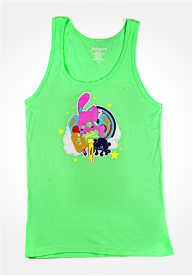 Neon Green Characters Tank