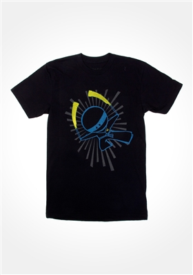 Black Glowstick Ninja T-shirt