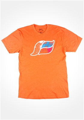 Orange Space Wave T-Shirt