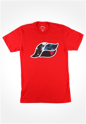Red Space Wave T-Shirt