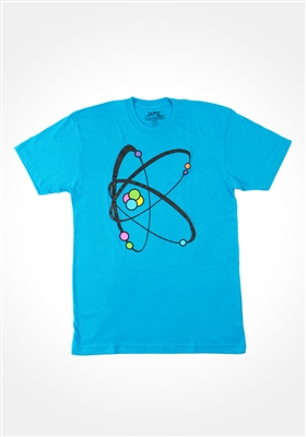 Neon Blue Atomic K  T-shirt